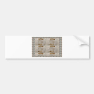 Gold n white fashion accessory diy add text image bumper sticker