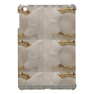 Gold n white fashion accessory diy add text image iPad mini cases