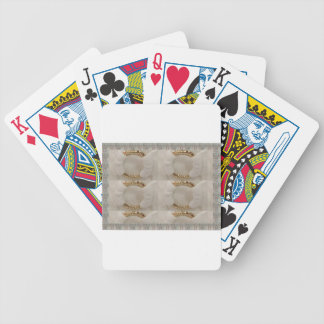 Gold n white fashion accessory diy add text image poker deck