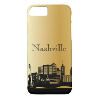 Gold Nashville Silhouette Phone Cases