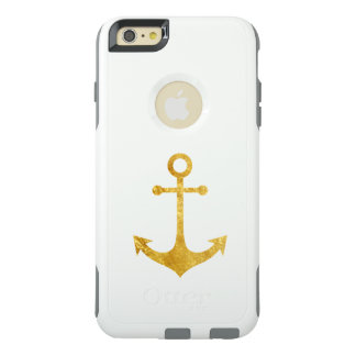 gold nautical anchor OtterBox iPhone 6/6s plus case