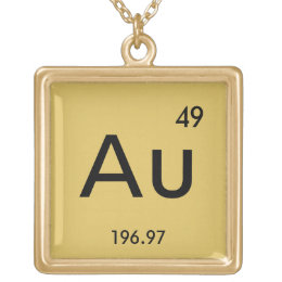 gold necklace - Au Pendant Periodic Table