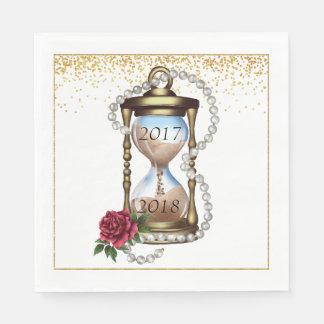 Gold New Years Eve Cocktail Napkins Disposable Napkins
