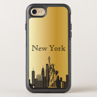 Gold New York Skyline Silhouette Case