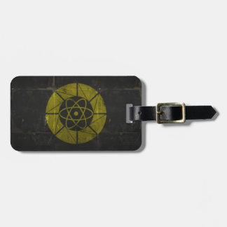 Gold Nuclear Luggage Tag