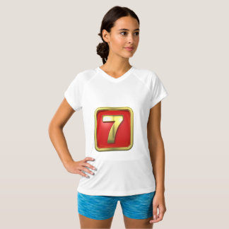 Gold Number Seven Womens Active Tee