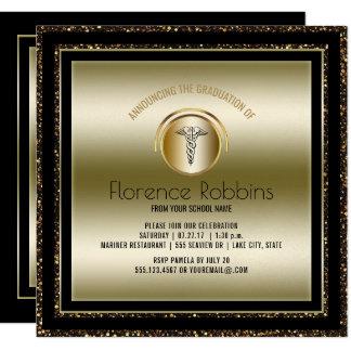 Gold Nurse Graduation Party | RN Pinning Ceremony Card