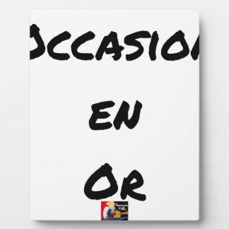 GOLD OCCASION - Word games - François City Plaque