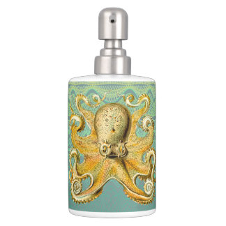 Gold Octopus pastel lotion toothbrush   bath set