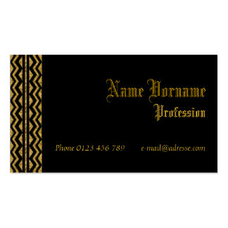 Gold old business card