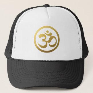Gold OM Symbol Hat