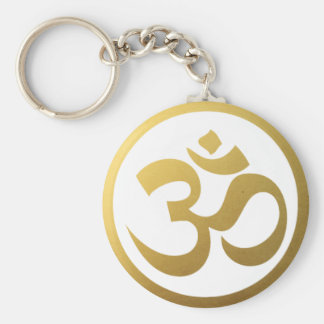 Gold OM Symbol Keychain