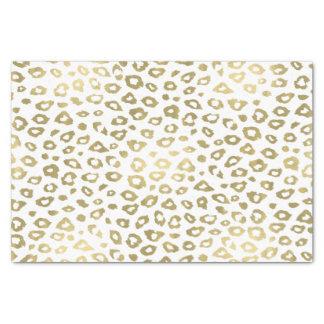 Gold Ombre Leopard Print Tissue Paper