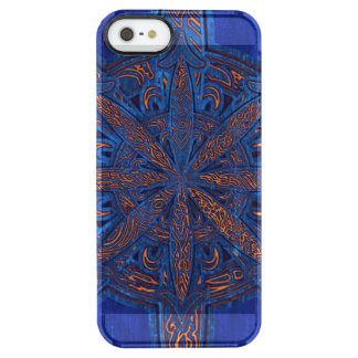 Gold on Blue Chaos Clear iPhone SE/5/5s Case