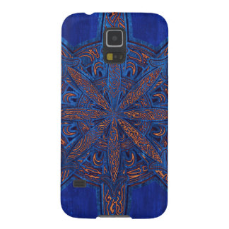 Gold on Blue Chaos Galaxy S5 Cover