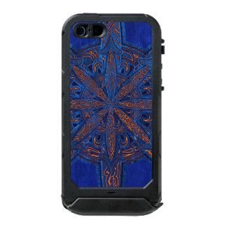 Gold on Blue Chaos Incipio ATLAS ID™ iPhone 5 Case