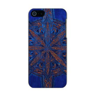 Gold on Blue Chaos Incipio Feather® Shine iPhone 5 Case