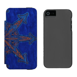 Gold on Blue Chaos Incipio Watson™ iPhone 5 Wallet Case