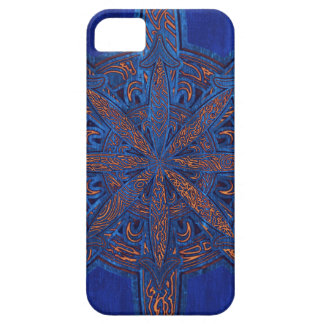 Gold on Blue Chaos iPhone 5 Cover