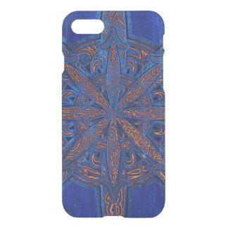 Gold on Blue Chaos iPhone 8/7 Case