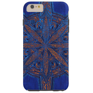 Gold on Blue Chaos Tough iPhone 6 Plus Case