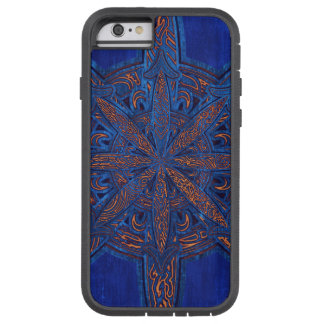 Gold on Blue Chaos Tough Xtreme iPhone 6 Case