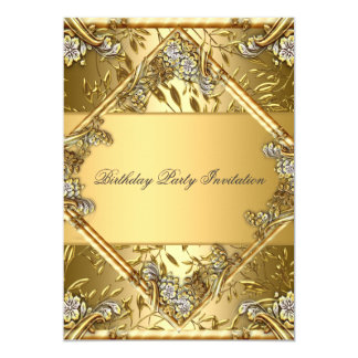 Gold on Gold 2 Any Party Invitation