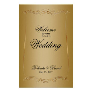 Gold on Gold Ornate Elegance Wedding Collection Poster