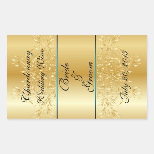 gold on gold wedding wine label sticker zazzle