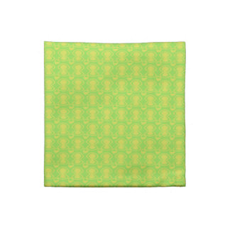 Gold on Green Abstract Print Napkin
