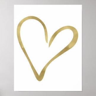 Gold Open Heart II Poster