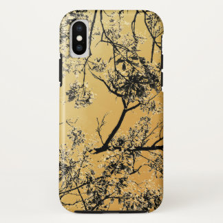 Gold Oriental Blossoms iPhone X Case
