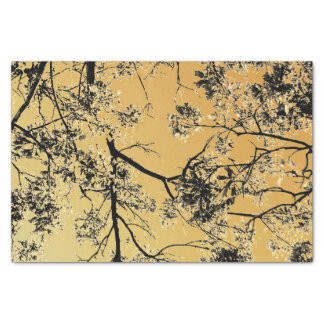 Gold Oriental Blossoms Tissue Paper
