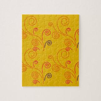 Gold ornaments  Folk design Jigsaw Puzzle