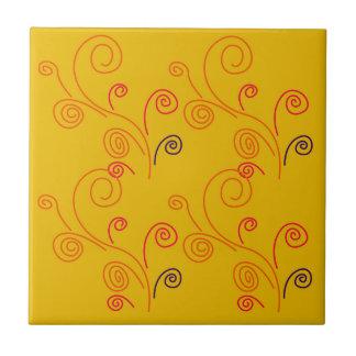 Gold ornaments  Folk design Tile
