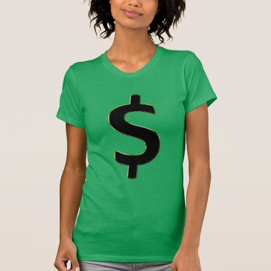 Gold Outlined $ T-Shirt