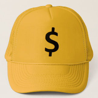 Gold Outlined $ Trucker Hat