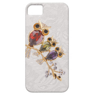 Gold Owls Jewels Paisley Lace iPhone 5 Case For The iPhone 5