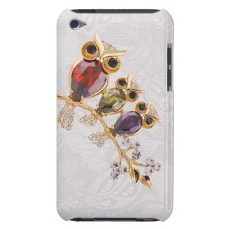 Gold Owls Jewels Paisley Lace iPod Touch Barely There iPod Case