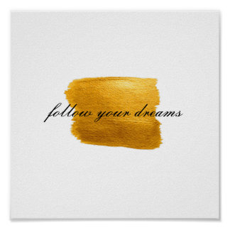 Gold Paint Quote Poster