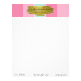 Gold Paint Stroke Colorful Stripes - Letterhead