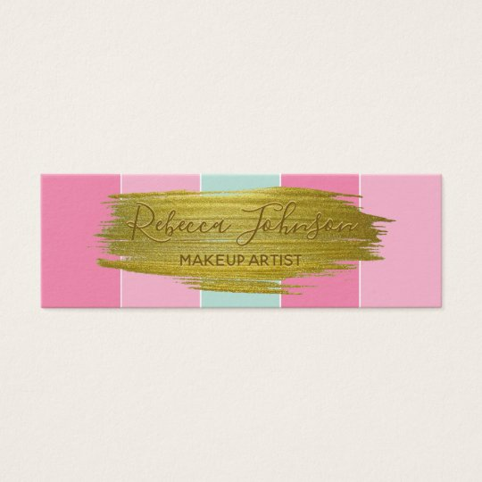 Gold Paint Stroke Colourful Stripes - Business Mini Business Card