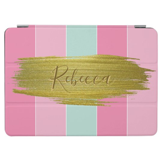 Gold Paint Stroke Colourful Stripes - iPad Cover