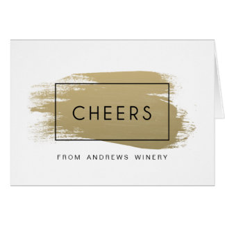 Gold Painted Corporate Holiday Greeting Card