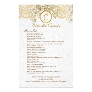 Gold Paisley Lace White Damask Flyer
