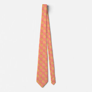 Gold paisley on coral pink tie