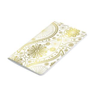 Gold paisley pattern journal