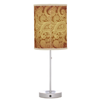 Gold Paisley Table Lamp