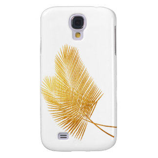 Gold palm leaf tropical samsung case S4 galaxy