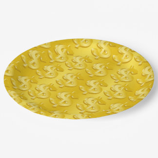 $ Gold $ Paper Plate